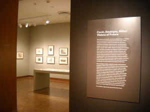 Installation of Corot, Daubigny, Miller: Visions of France. Photo credit: the author.