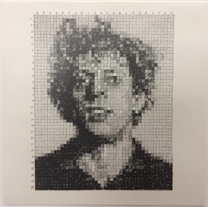 Chuck Close (American, b. 1940), Phil, from the Rubber Stamp Portfolio, 1976, published 1977. Rubber stamp print. Image: 7 × 5 1/2 in. (17.78 × 13.97 cm); sheet: 8 × 8 in. (20.32 × 20.32 cm). Gift of Virginia M. and J. Thomas Maher III M1994.263.4. Photographer credit: Efraim Lev-er. © Chuck Close, courtesy Pace Gallery.