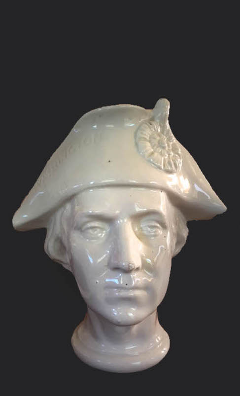 Sydney Starkey, George Washington Ironside Character Jug, 1892. Chipstone Foundation.