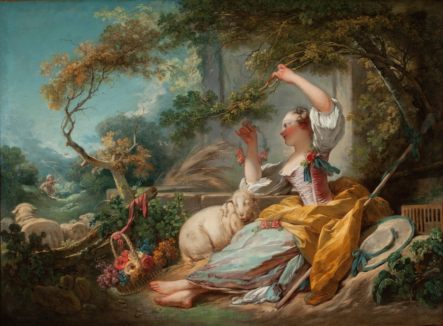 Jean-Honoré Fragonard (French, 1732–1806), The Shepherdess, ca. 1750/52. Oil on canvas. Milwaukee Art Museum, Bequest of Leon Kaumheimer M1974.64. Photo credit: John R. Glembin.