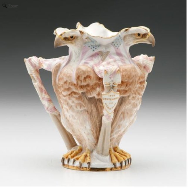 W.T. Copeland & Sons, Centennial Polychrome Pitcher, 1876. Chipstone Foundation.