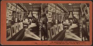 Stereoscpoic view of the interior of M. Knoedler & Co., New York. From the New York Public Library.