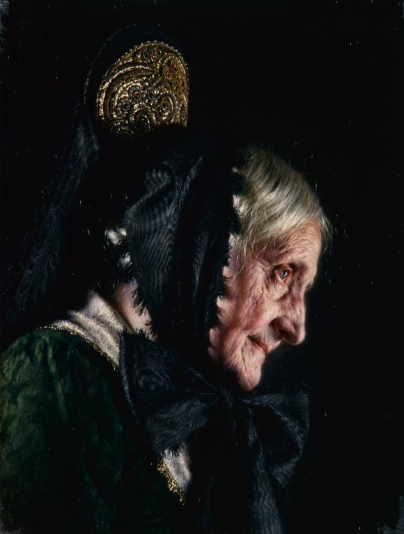 Carl Kronberger (Austrian, 1841–1921), Peasant Woman, ca. 1884. Oil on wood panel. Milwaukee Art Museum, Gift of the René von Schleinitz Foundation M1962.74. Photo credit: P. Richard Eells.