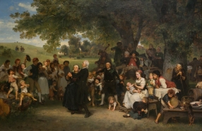 Ludwig Knaus (German, 1829–1910). The Golden Wedding, 1859. Oil on canvas. Collection of Eckhart and Ischi Grohmann.