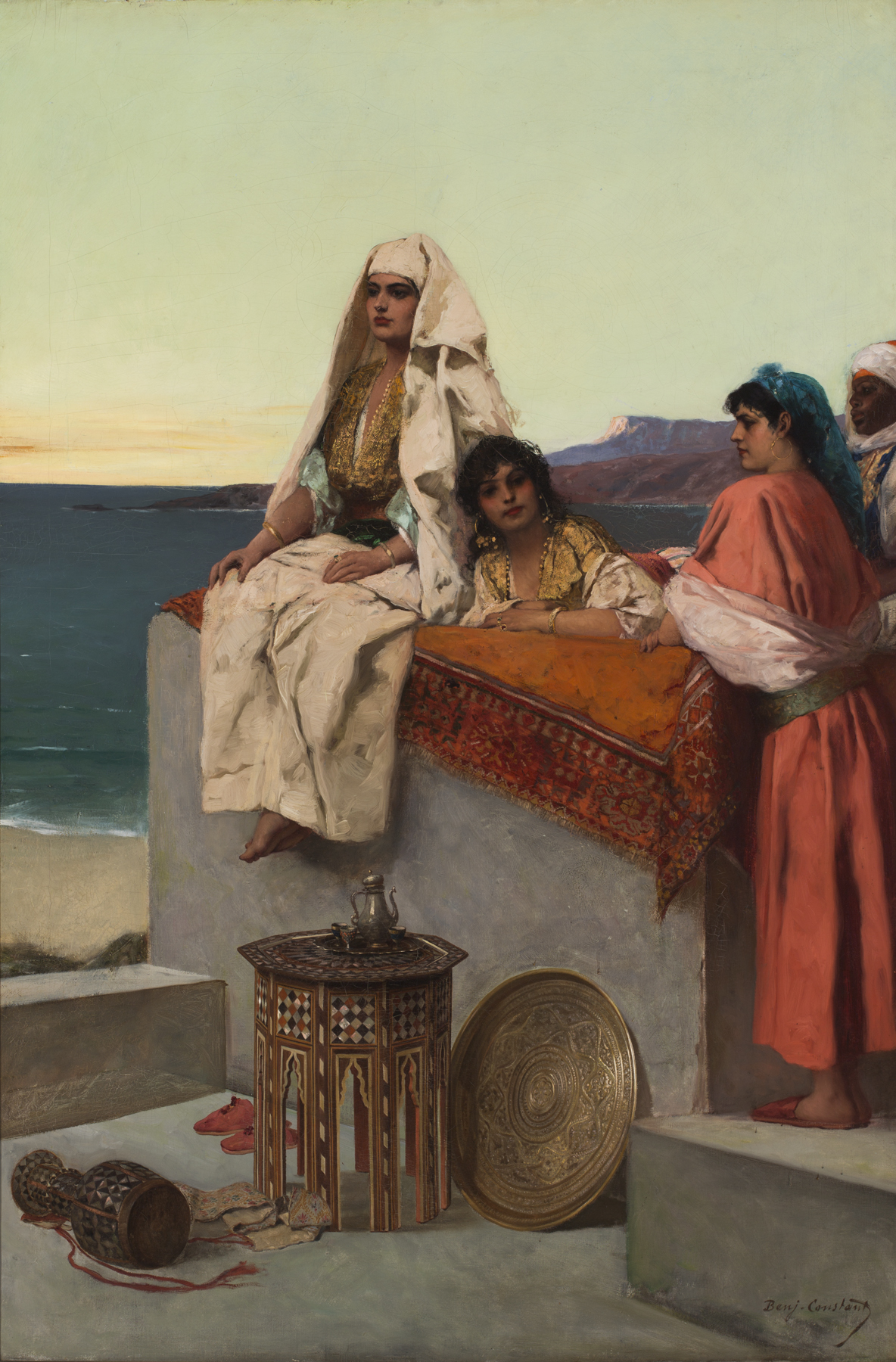Joe For Oil >> Questions of Provenance: Evening on the Seashore—Tangiers by Jean Joseph Benjamin Constant ...