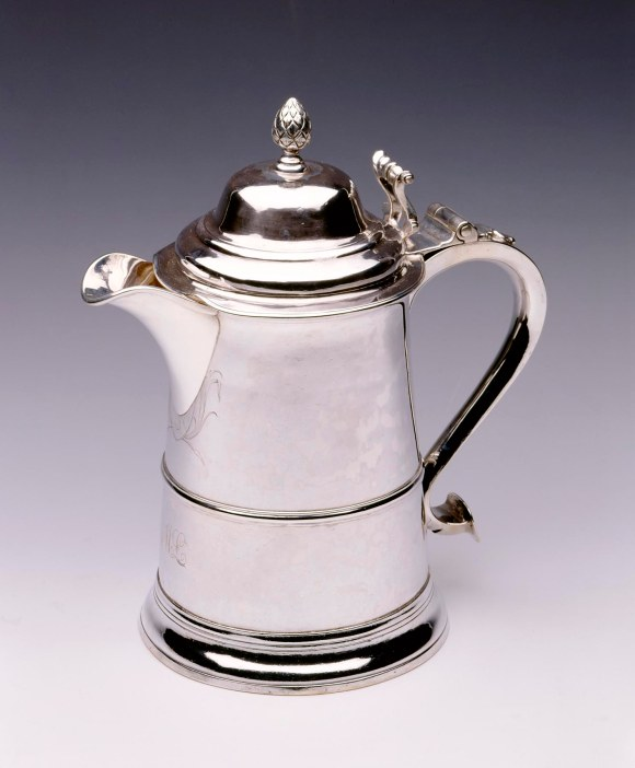 Paul Revere (American, 1735–1818), Tankard Made into a Pitcher, ca. 1760; spout added 1816. Silver. Milwaukee Art Museum, Gift of Dr. Warren E. Gilson M1995.408. Photo credit: Larry Sanders.