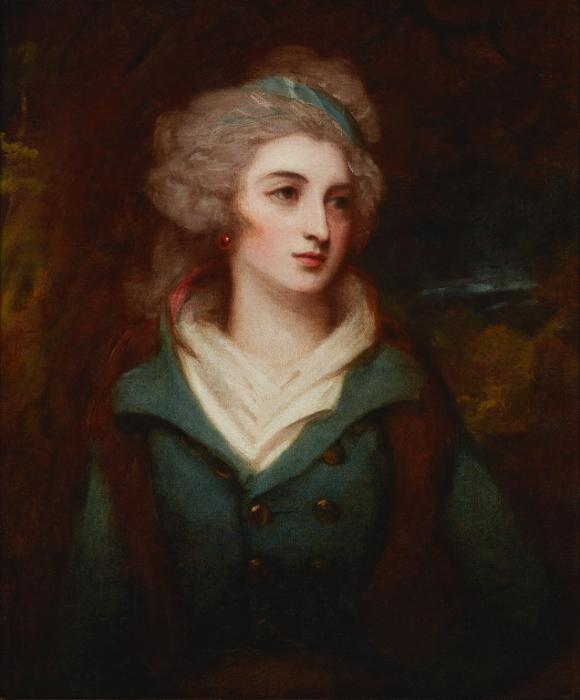 George Romney (English, 1734–1802), Miss Grace Ashburner, 1792. Oil on canvas. 30 1/8 × 25 1/8 in. (76.52 × 63.82 cm). Milwaukee Art Museum, Layton Art Collection Inc., Gift of Mr. and Mrs. Arthur N. McGeoch, Sr. L1941.9. Photo credit: John R. Glembin.