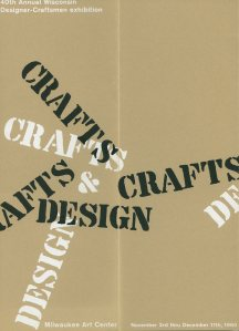 John J. Reiss, exhibition catalogue. 40th Wisconsin Designer Craftsman Exhibition, 1960