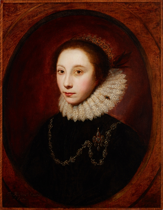 Cornelius Janssen van Ceulen (English, 1593–1661), The Countess of Exeter, ca. 1620. Oil on panel. Milwaukee Art Museum, Bequest of Catherine Jean Quirk M1989.68. Photo credit: John R. Glembin.