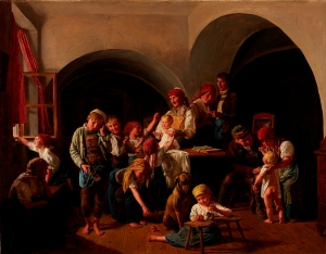 Ferdinand Georg Waldmüller (Austrian, 1793–1865), St. Nicholas Day, 1851. Oil on wood panel. Milwauke Art Museum, Gift of the René von Schleinitz Foundation M1962.124. Photo credit: John R. Glembin.