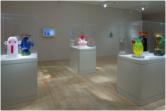 Installation view of Jaime Hayon: Technicolor, Milwaukee Art Museum, 2017. Photo by John R. Glembin.