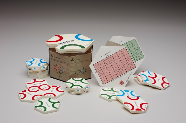 Kent Dickinson (American, active 1970s) Manufactured by Odlot Game Company (United States, active 1970s), Metradoms: a game of metric dominos, 1976. Plastic and paper. Milwaukee Art Museum, Gift of Daniel Ostroff M2017.28. Photo by John R. Glembin.