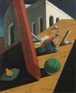 Giorgio de Chirico, The Evil Genius of a King, 1914-15. Oil on canvas. Museum of Modern Art 112.1936. © 2018 Artists Rights Society (ARS), New York / SIAE, Rome.